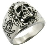 Stainless Steel Jewelry Skull Ring Custom Ring