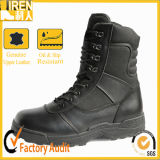 Genuine Leather Side Zipper Military Tactical Boots