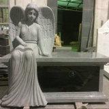 Granite Sitting Angel Bench Monument