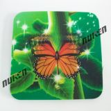 3D Lenticular Printing Plastic Cup Coaster