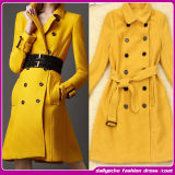 New Arrival Celebrity Coats Long Yellow Women Wool Coats