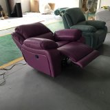 Purple Color Manual Type Recliner Sofa (725)