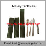 Wholesale Cheap China Military Stainless Steel Police Army Flatware 6sets