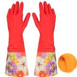 Waterproof Household Glove Warm Dishwashing Rubber Glove