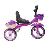 Purple Color Kids Tricycle Bike with Basket