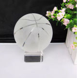 White Crystal Basketball Gifts Ks250440