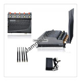 Cellular Phone Jammer; Stationary 5 Bands 2g, 3G Cellphone +Wi-Fi Adjustable Jammer/Blocker
