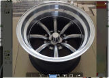 Watanabe Type R Wheel Rim with Black Machine Lip
