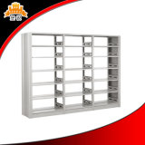 Library Furniture Double Side Face Column Steel Bookshelves