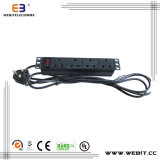 10 Inch Non-Standard 4-Way PDU for UK
