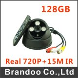 Real 720p 128GB Dome SD Camera for CCTV