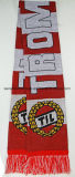 Custom 100%Acrylic Knitted Football Scarf Fan Scarf
