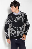 Warm Wool Blend Round Neck Knit Men Knitwear