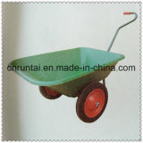 80kg Capacity One Handle Two Wheels Wheelbarrow