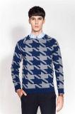 Fashion Jacquard Round Neck Knit Man Sweater