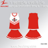 Healong Factory Price Colorful Sublimation Ladies Cheerleading Dresses