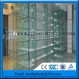 6mm, 8mm Clear Safety Tempered Glass Shelf