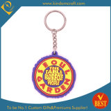 Wholesale High Quality Round Shape Rubber Key Chain Promotion Gift with Publicity Logo