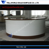 Modern Curved White Marble Semi-Circle Reception Desk Bank Reception Desk