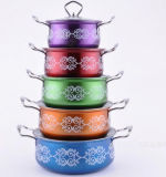 African Stainless Steel Cooking Pot with Painting Sp100