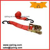 "2"" S-Hooks Ratchet Strap 2"" X 8′ Red"