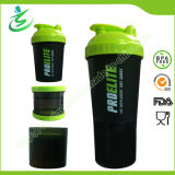 600ml Nutrition Big Protein Shaker Bottle with Compartments