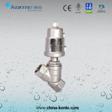 Ss304 Ss316 Stainless Steel Pneumatic Angle Piston Valve for Hot Sales