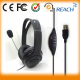 Over Head Phone Headset USB Stereo Headphone with Mic.