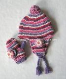 Children Ear Flap Hat Glove Set