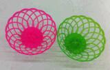 Pink Green Plastic Fruit Basket