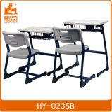 Single School Desk and Chair with Metal Frame