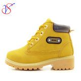 Family Fitted Kids Children Injection Safety Working Work Boots Shoes for Outdoor Job (SVWK-1609-040 TAN)