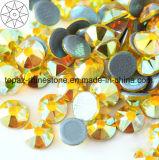 2018 Latest Hot Selling Ss16 Citrine Ab Hot Fix Rhinestone Glass Crystal Copy Preciosa Stone (HF-ss16 citrine ab /5A grade)