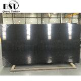 Black Wall Panel Quartz Slabs with Thin Veins