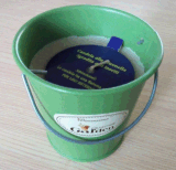 Metal Bucket Garden Used Citronella Candles with Customized Label (GF013)