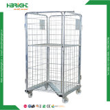 Wire Mesh Nestable Base Roll Cage Trolley