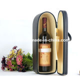 PU Leather Single Bottle Carrier Case Champagne Wine Gift Bag