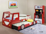Hulubao Red Color Kids Train Bed Kids Train Bunk Bed