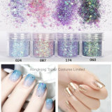 Nail Art Blue White Mixed Nail Glitter Powder Hexagon Shape Glitter Nail Powder Sheets Tips Nail Art
