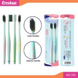 Eco-Friendly Biodegradable Wheat Straw Adult Toothbrush with Helix Bristles Pack 2 in 1 702