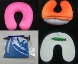 Travel Pillow in U-Shape, Velour Cover Inflatable