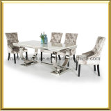 Modern Stainless Steel Marble Top Dining Table