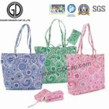 2016 Promotional Colorful Shopping Polyester Foldable Tote Bag