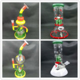 Popular Glass Recycler Glass Water Smoking Pipe with Various Designs