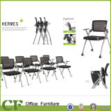 Office Training Room Chair with Folding Writing Board with Cup Holder