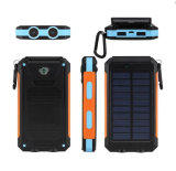 10000mAh Waterproof Dustproof Fast Charge Solar Power Bank for Camping with Sos Function