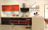 Modern Red Lacquer Kitchens Cabinet