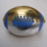 Soft Ball, Football Shape, Metallic Surface (B10303)