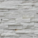 White Slate Stacked Stone Wall Cladding