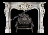 Marble Fireplace with Stone Limestone Sandstone Granite (QY-LS382)